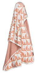 Stroller Blanket, Rose Elephant