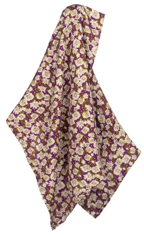 Bamboo Swaddle, Purple Floral