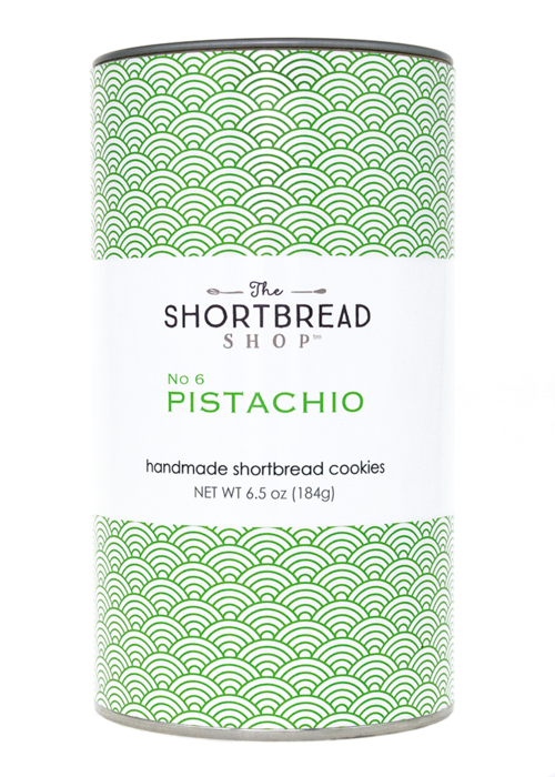 The Shortbread Shop - Pistachio - 8 Count Kraft Can
