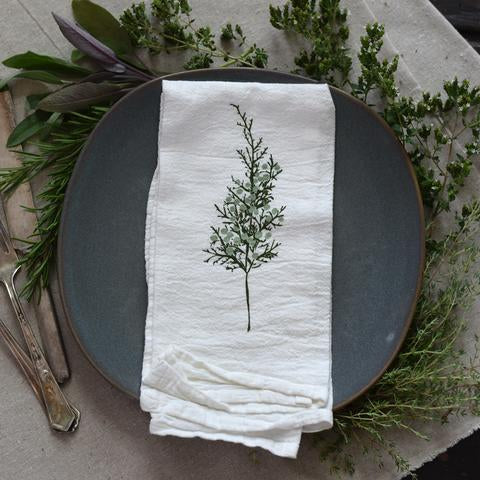 Juniper Sprig Napkin, Set of 4