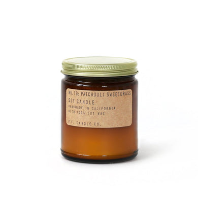 P.F. Candle Co. - Patchouli Sweet Grass Soy Candle