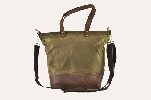 Boyfriend Tote Canvas Bag - Black or Olive