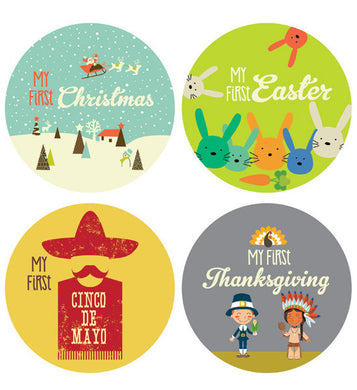 First Retro Holiday Stickers