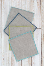 Coastal Blues Linen Dinner Napkins