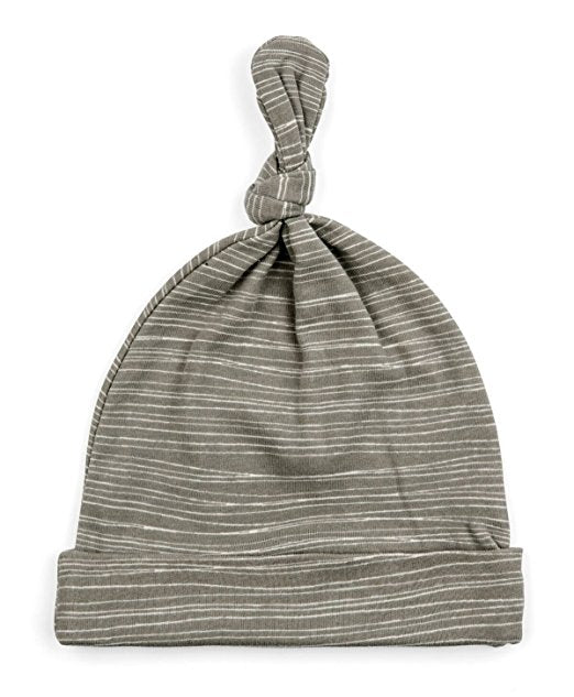 Organic Knotted Grey Stripe Hat