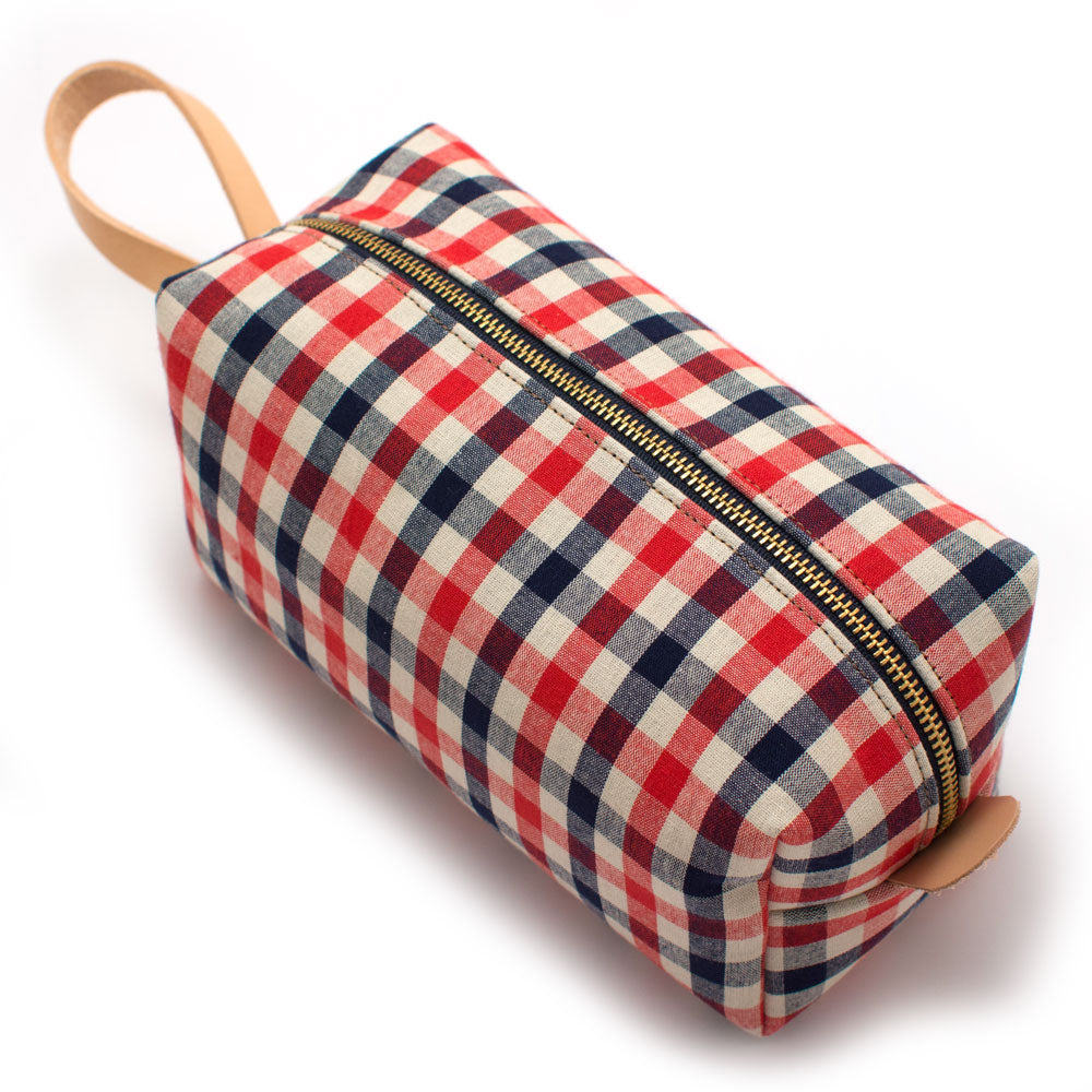 Vintage Gingham Travel Kit