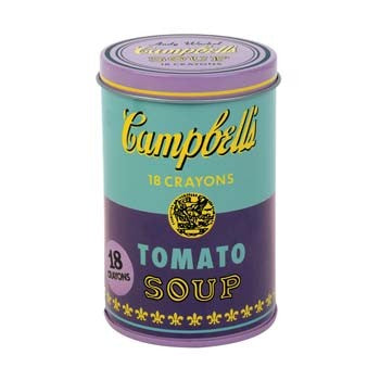 Andy Warhol Soup Can Crayons