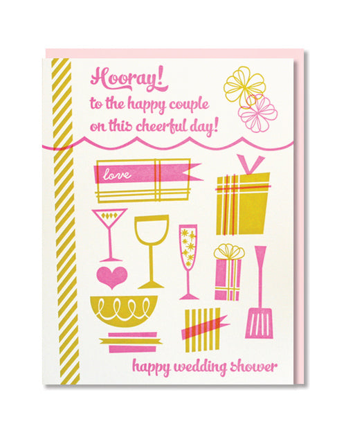 Hooray Wedding Shower Card