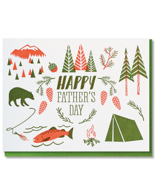 Camping Father's Day Card