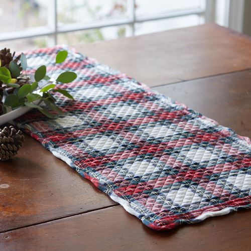 Aberdeen Quilted Scottish Tartan Plaid Table Runner