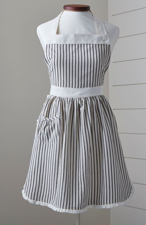 Bergen Black Stripe Apron, Child or Adult