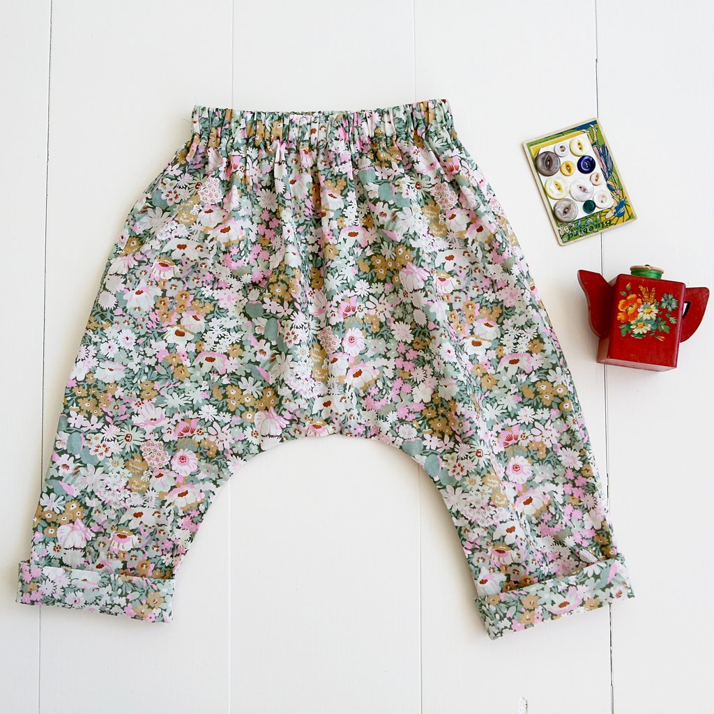 Baby + Toddler Harem Pants Sewing Pattern