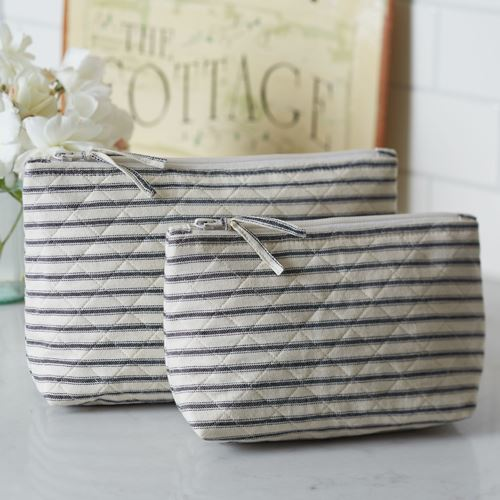 Bergen Stripe Black Cosmetic Bag