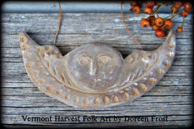 Blackened Beeswax Angel Ornament or Cupboard Hanger