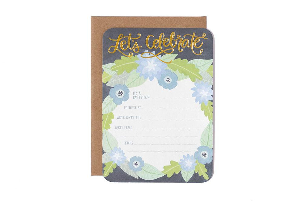 Let's Celebrate Fill-In Invitations