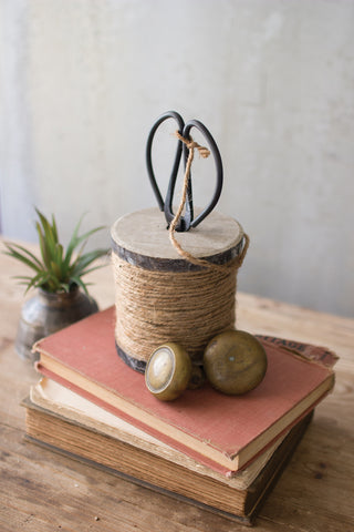 Scissors + Jute Spool