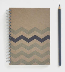 Chevron Letterpress Notebook
