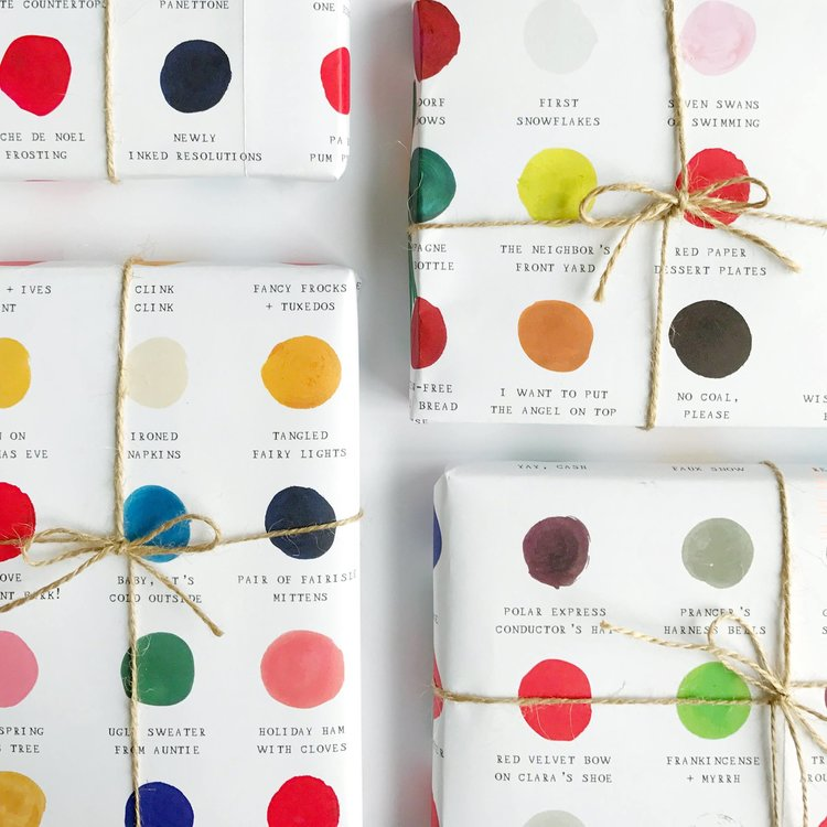 Color Palette Holiday Gift Wrap