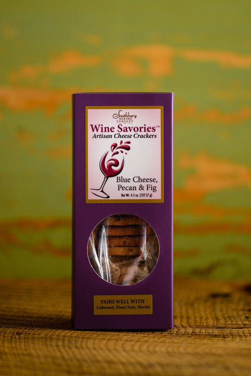 Wine Savories Artisan Cheese Crackers - Blue Cheese, Pecan & Fig