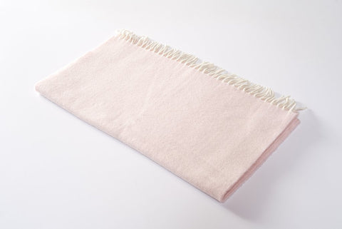 CASHMERE BABY BLANKET SOFT ROSE
