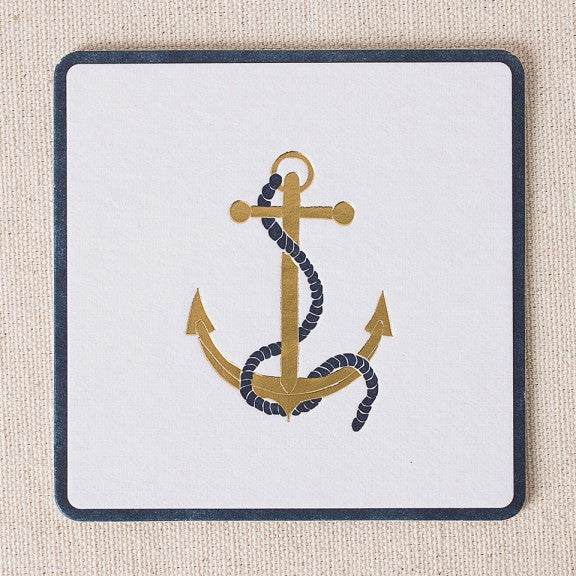 Letterpress Anchor Coasters