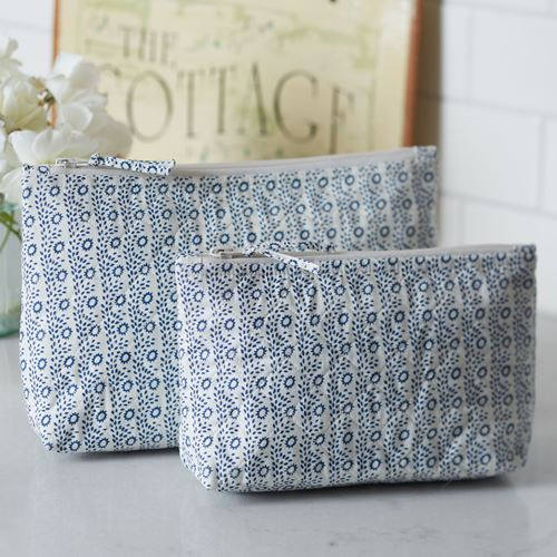 Eloise Indigo Cosmetic Bag