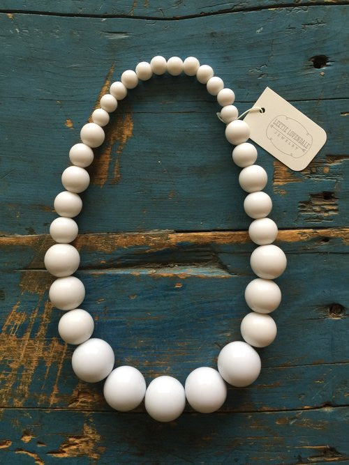 Vintage White Lucite Necklace