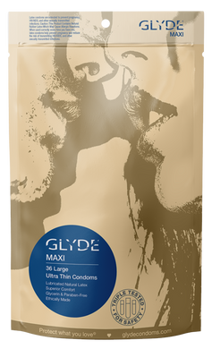 GLYDE MAXI | ULTRA THIN EXTRA LARGE CONDOMS - 36 COUNT