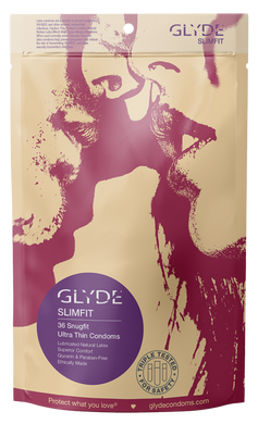 GLYDE SLIMFIT | ULTRA THIN SNUG FIT CONDOMS - 36 COUNT
