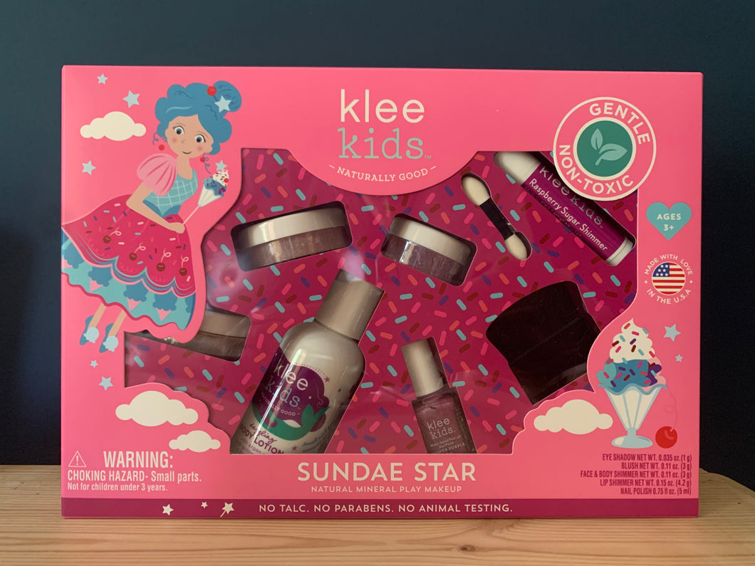 Sundae Star Klee Kids Natural Mineral Play Make Up Set