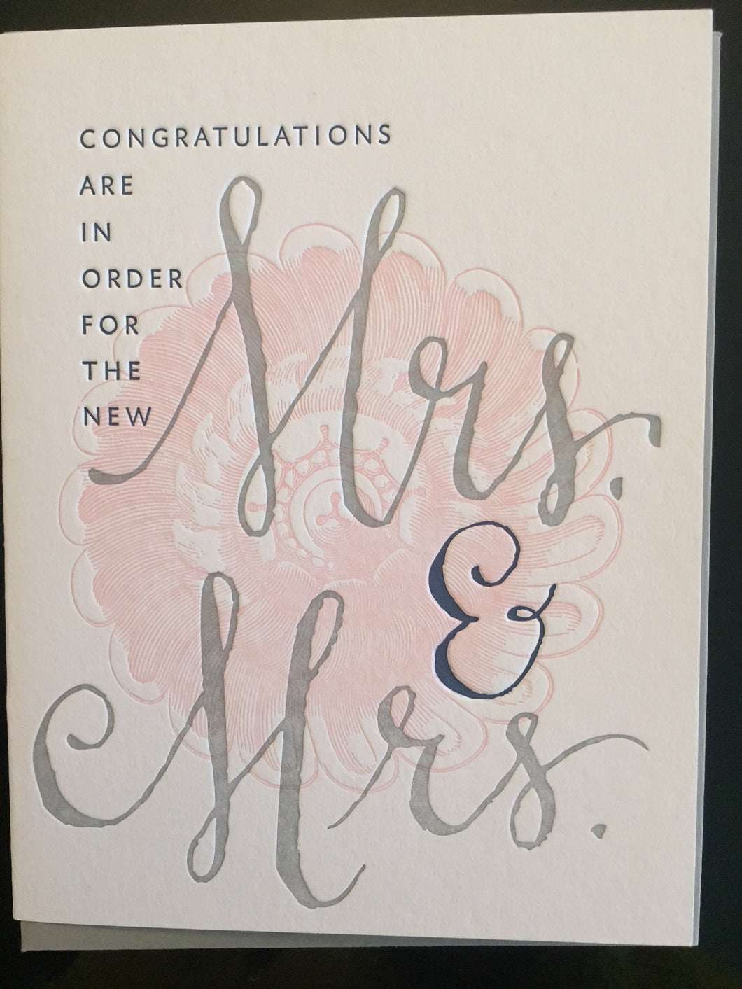 Mrs. + Mrs. Wedding Card