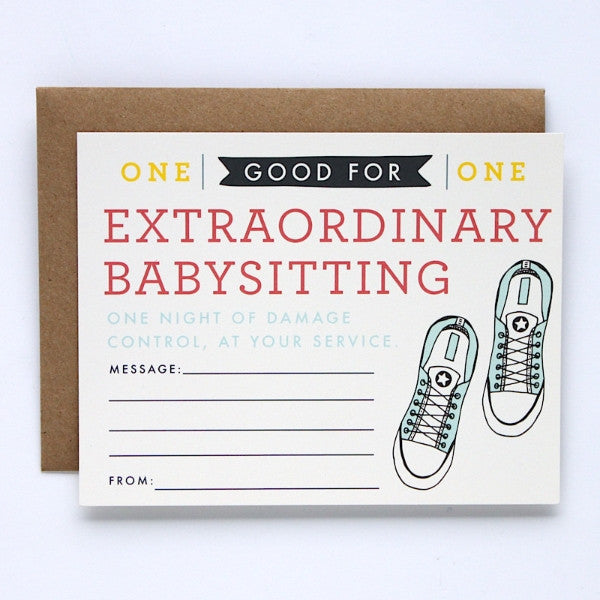 Extraordinary Babysitting Coupon