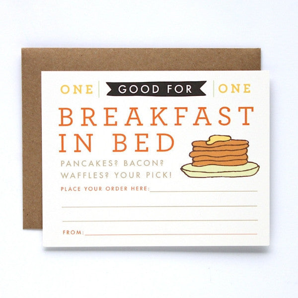 Breakfast in Bed Coupon