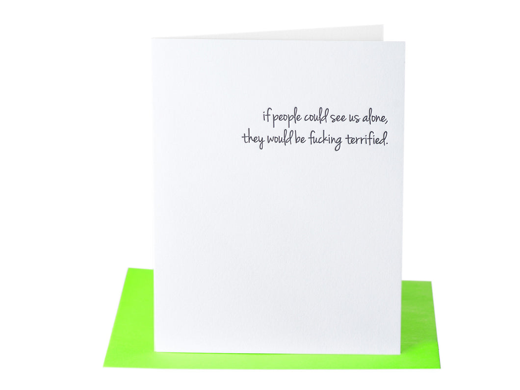 If Only, Then Terrified Card