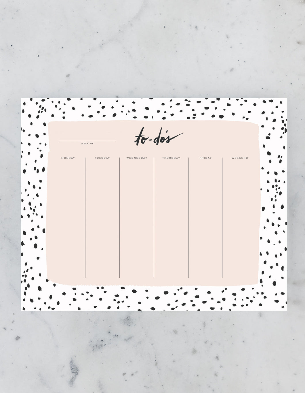 Speckled Desk Pad