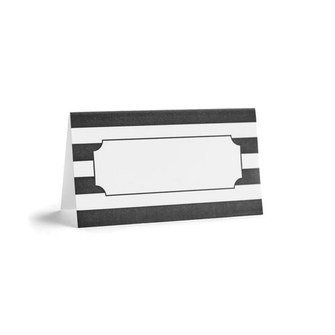 Black Cabana Place Card