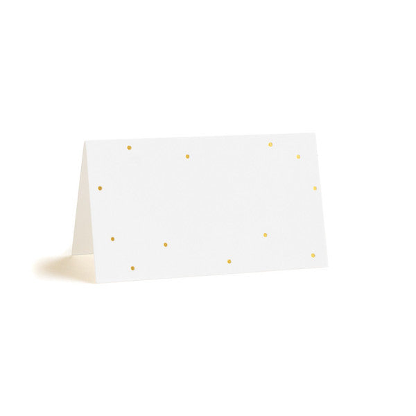 Tiny Gold Dot Place Card