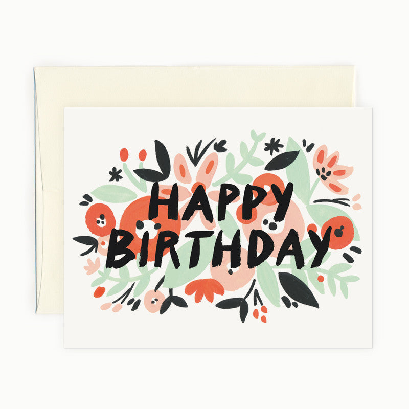 Coral Happy Birthday Card
