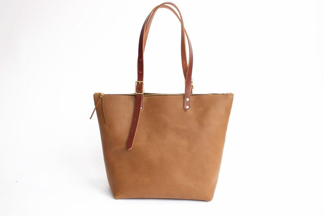 The Rosemarie Tote - Whiskey
