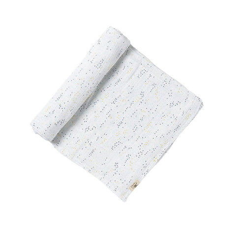 Blue Showers Swaddle Blanket