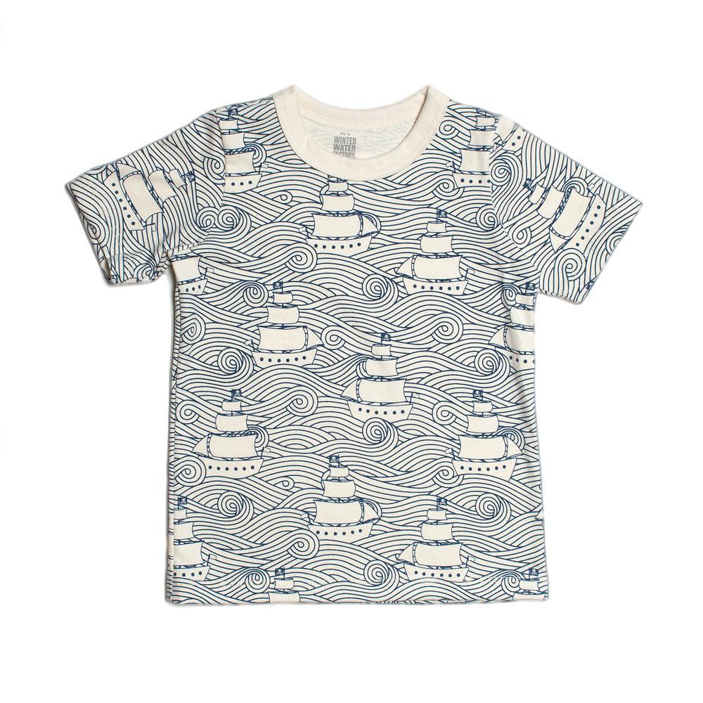 Short-Sleeve Tee Shirt High Seas Navy