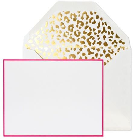 Leopard + Hot Pink Notecards