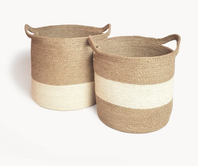Agora Color Block Basket Set of 2