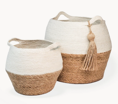 Agora Jar Basket Natural Set of 2