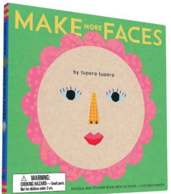 Make More Faces Doodle and Sticker Book with 52 Faces + 6 Sticker Sheets