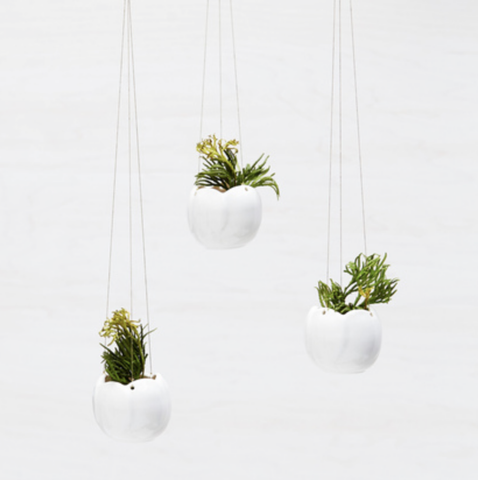 Tiny Porcelain Hanging Planter