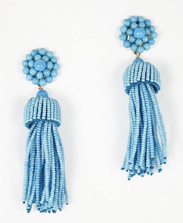 Tassel Earrings, Clip On