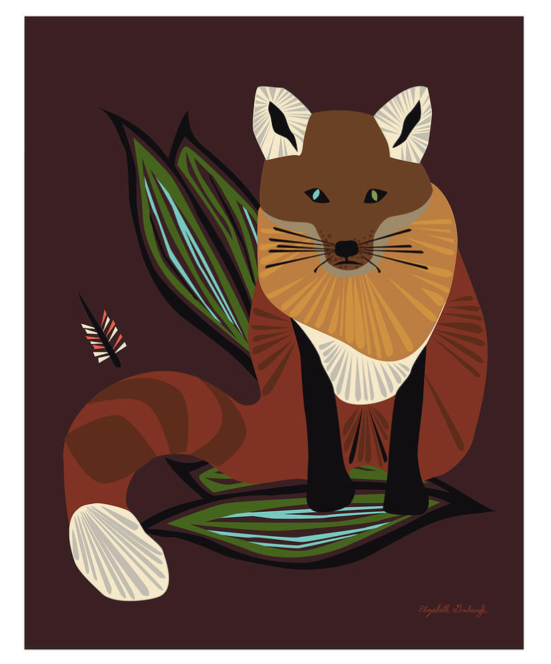 Mr. Fox Print :: framed or unframed