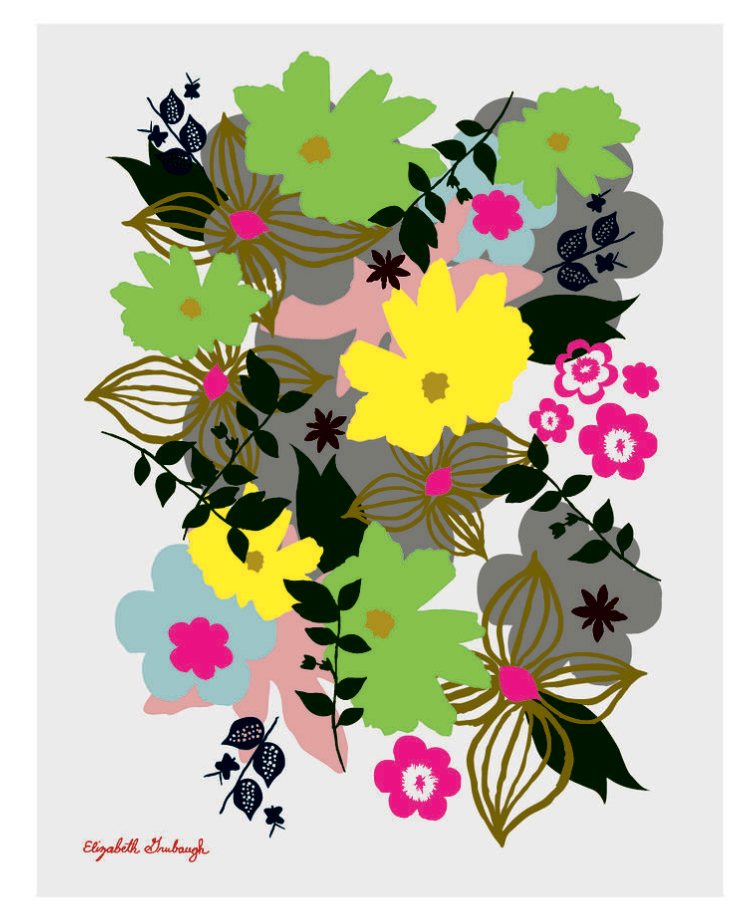 Spring Flower Print :: framed or unframed