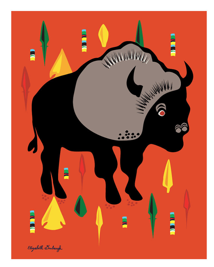 Buffalo Print :: framed or unframed